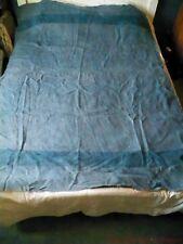 Vtg 40's 50's Hudson's Bay 4 Point Blue  Wool Blanket Hudson  ~88x65 - AS IS