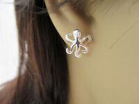 Octopus Earrings - 925 Sterling Silver - Ear Studs Post Earrings Beach Nautical