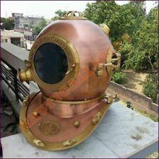 """Vintage US Navy 18"""" Divers Diving Helmet Mark V Copper Antique Christmas Gift DH"""