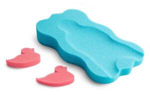Baby Bath Support Foam - Sponge MIDI + 2 sponge toys Blue