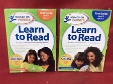 Brand New: Hooked On Phonics Learn To Read Set First Grade Dvd Books Level 1 & 2
