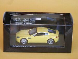 Aston Martin V8 Vantage, Geneva Show 2005, 1:43 Minichamps model in box. A1 Mint