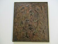 VINTAGE ABSTRACT PAINTING MID CENTURY MODERN EXPRESSIONIST EXPRESSIONISM LISTED