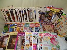 cross stitch magazine huge lot- just country world of stitcher collection last c