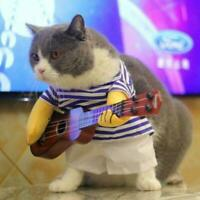 Guitarist Player Pet Dog Cat Puppy Funny Hot Clothes Suit Costumes E6F4