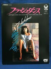 Flashdance Japan VHD Video Disc VHP78060 Jennifer Beals Moroder Irene Cara NTSC