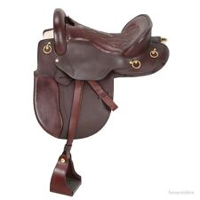 16 Inch Classic Distance Rider Endurance Saddle - Dark Oil Leather - Wide Tree