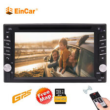 6.2Inch Car GPS Navigation Radio DVD Player Double 2DIN Stereo BT Touch In Dash