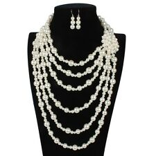 Exaggerated Multi-layer Luxury Flower Bridal Pearl Wedding Women Jewelry Sets