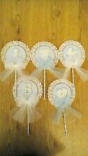 Stunning handcrafted lace baby boy pcks set of 5