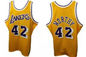 New 1984-85 James Worthy #42 Lakers Mens XL XLarge Mitchell & Ness Jersey $130