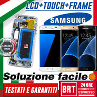 DISPLAY LCD+TOUCH SCREEN+FRAME PER SAMSUNG GALAXY S7 SM-G930F G930 VETRO SCHERMO