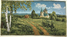 Tapestry Textile Picture Panels Ca 12 5/8x6 5/16in Town Naturlandschaften New