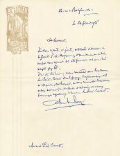 Gabriel Ursin Langé Paul-Courant  X 6 Lettres Société Huysmans Fecamp lot