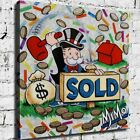 """24x24"""" Alec Monopoly """"MiMo Sold Master"""" New HD print on canvas rolled up print"""