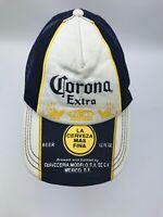 Corona Extra Mesh Trucker Hat  Blue White Yellow Mexican Beer Cap