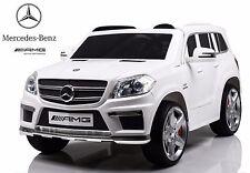 AUTO ELETTRICA 12V SUV PER BAMBINI MERCEDES BENZ GL63 AMG CON TELECOMANDO BIANCO