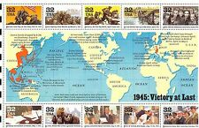 US HISTORY 1995 SCOTT #2981 32c WWII 1945: VICTORY AT LAST 10 MNHVF STAMP SHEET