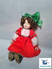 RARE Hallmark Christmas Carol Doll Porcelain Figurine Decoration limited edition