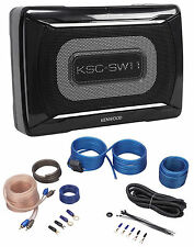 "Jeep Wrangler 87-06 8"" Kenwood Powered Compact Slim Subwoofer Enclosure+Amp Kit"