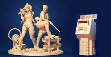 75mm Resin Figure Fantasy 2 Female Warriors W/base & Atm Unassembled Unpainted