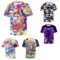 Undertale Lovely Multicolor T-Shirt Kids Adults Unisex Casual Short Sleeve Tee