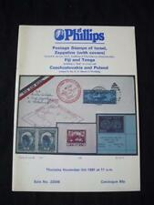 PHILLIPS AUCTION CATALOGUE 1981 ISRAEL ZEPPELINS FIJI AND TONGO ETC