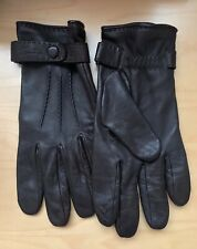 Longchamp men's brown leather gloves size 8.5 smartphone touch technology
