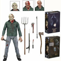 "Friday the 13th Part IV 3D JASON VOORHEES 7"" Scale Ultimate Action Figure Toy"
