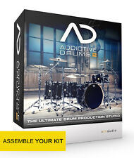 Addictive Drums 2 with 3 adpaks, 3 midipaks and 3 kitpieces of your choice