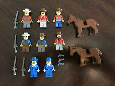 LEGO Western Cowboys Bandit's Minifigures Lot Fort Legoredo 6769 Rare!