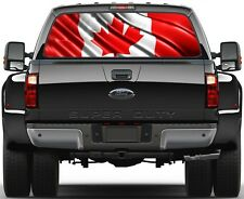 Canadian Flag Rear Window Graphic Decal Truck SUV Vans
