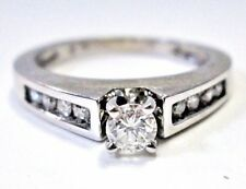 LQQK Gorgeous 0.41 ctw Diamond Engagement Ring 14K White Gold sz 6.25 Women