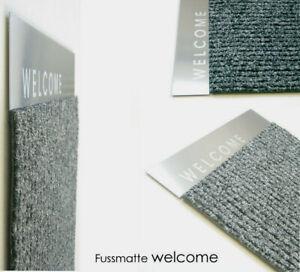 Fußmatte Türmatte 1057-00 66x40cm Einfarbig Flur/Diele Anthrazit Artikel-Design