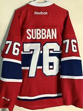 a13399989 Reebok Premier NHL Jersey Montreal Canadiens P.k. Subban Red Sz S
