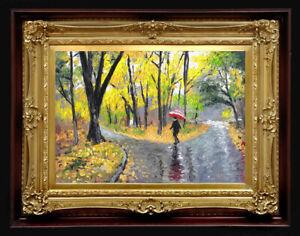 "Oil Painting PRINTED on Canvas Arseni ~ AUTUMN 26"" X 18"" Art NO FRAME Artist"