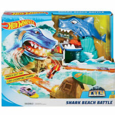 HOT WHEELS PISTA DELLO SQUALO SHARK BEACH BATTLE MACCHINE MATTEL FNB21
