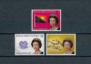 Papua New Guinea  #462 - 4 used ,  Queen Elizabeth Silver Jubilee 1977