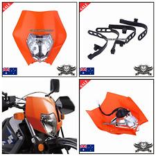 Orange KTM EXC XC MXC 250 450 520 525 530 Dirt Bike Headlight Head Lamp 12v 35w