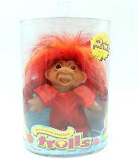 Devil Troll Doll w/ Red Hair, Original Good Luck DAM Trolls, Jakks Pacific 2006