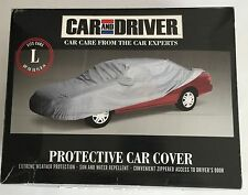 Car & Driver Protective Car Cover Size Large Color Silver - New