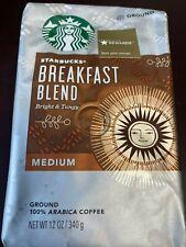 3-STARBUCKS BREAKFAST BLEND COFFEE 12 OZ BAGS NEW 11/20/2019