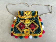 Handmade Bag Girl Cross Body bag Handbag Fancy Embroidery Yellow Shoulder Bag