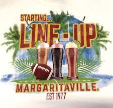 """MARGARITAVILLE Men's T-Shirt- """"STARTING.. LINE UP, EST 1977"""" - SIZE: MEDIUM"""