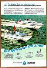 1968 CHRYSLER 23' Cabin Cruiser & 15' Runabout Boat Boating AD