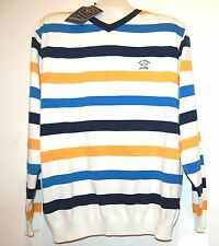 Paul & Shark Yachting Watershed Cotton Men's Italy Stripes Shirt Sweater Sz XL