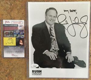 Rush Limbaugh Signed Autograph Photo Mint Condition COA JSA Conservative Radio