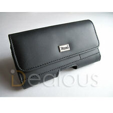 Samsung Galaxy S20+ Plus Premium Black Leather Pouch w/ Inner Slot Pocket Case