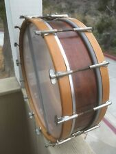 ANTIQUE LUDWIG TURN OF THE CENTURY SOLID MAHAGANY 15X4 SNARE DRUM, EXTRA NICE !