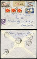FRANCE used in INDOCHINA 1955 REGISTERED to CANADA MILITARY T.O.E...SASK.RPO PMK
